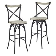 Ecom Barstool WALKER EDISON FURNIT Light Grey