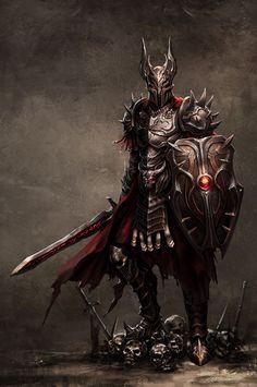 m Paladin Plate Helm Shield Sword Cape NE knight armor d&d Fantasy Warrior, Fantasy Male, Fantasy Rpg, Medieval Fantasy, Fantasy Artwork, Dark Fantasy, Death Knight, Knight Armor, Dragon Knight