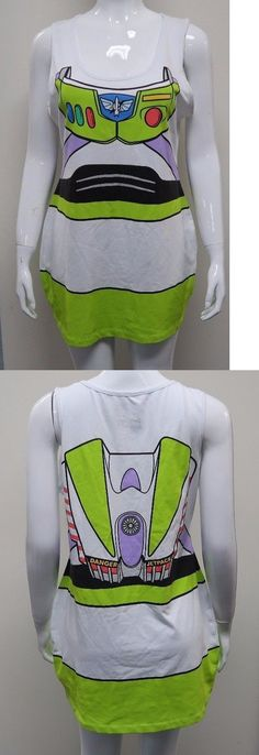 Women Costumes: Disney Toy Story Womens Juniors Buzz Lightyear Front Back Slim Xxl Costume Dress BUY IT NOW ONLY: $16.5