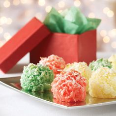 Chewy Holiday Macaroons ~ Crispy on the outside. Chewy on the inside. The perfect cookie for coconut lovers