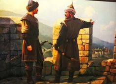 Osman Gazi with his son Orhan Gazing Turkey History, Art History, Middle East Culture, Old Warrior, Sword And Sorcery, Ottoman Empire, Historical Pictures, Medieval Fantasy, Military Art