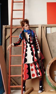 "Freja Beha Erichsen in ""Abstract Thinking"" by Mario Testino for Vogue UK, September 2014"