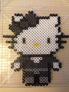 Hello Kitty Black Widow perler beads by Jenny Long