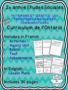 Complete unit with activities, inquiry, and test in French. Teacher lesson plans included in English. Perfect for French Immersion. Can be used for distance learning with modifications to lessons. Inquiry Based Learning, Social Emotional Learning, Study French, Learn French, Spanish Language Learning, Teaching Spanish, French Lessons, Spanish Lessons, Teaching French Immersion