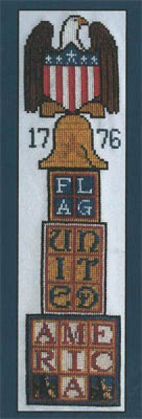 American Eagle Stacked is the title of this cross stitch pattern from Hinzeit.