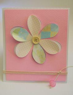 προσκλητήριο με τρισδιάστατο patchwork λουλούδι