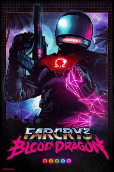 Alternative Far Cry 3: Blood Dragon Poster.