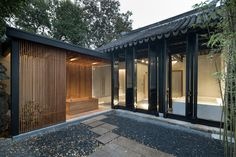 Completed in 2017 in Suzhou, China. Images by Eiichi Kano. Located in the core of the historic town of Suzhou, China, the site covers about sqm, once was the residence of family Bei. Suzhou, China Architecture, Residential Architecture, Amazing Architecture, Japanese Architecture, Architecture Office, Futuristic Architecture, Traditional Chinese House, Chinese Courtyard