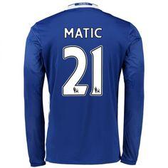 Chelsea 16-17 Cheap Home LS Soccer Shirts #21 MATIC [E256]