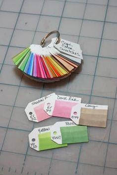 Copic Color Swatch Idea - Splitcoaststampers.com