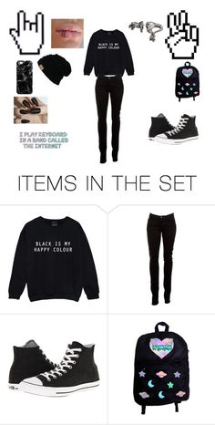 """""""Black Is My Happy Color"""" by divona-and-friends ❤ liked on Polyvore featuring art"""