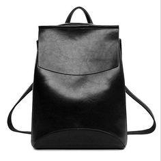 Vintage Leather Backpack Women