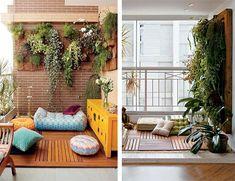 Natureza no apê: aproveite a varanda como área de descanso - Danielle Noce