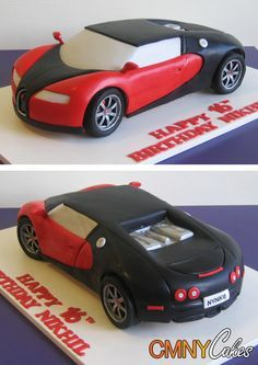 Bugatti for Aaron's Groomcake. I wonder if the artist can put him in it smoking a cigar with the 'just married' sign coming off the back