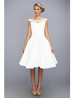 Unique Vintage Latticed Laura Swing Dress