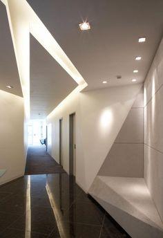 *architecture, modern interiors, corridors, hallways, ceilings, skylights*