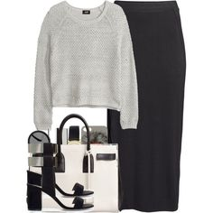 Gray-Scale by paradise-101 on Polyvore featuring H&M, Zara, Yves Saint Laurent, ASOS, The Row, Nails Inc., Spring, grunge and edgy