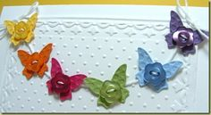 cute butterflies on a string