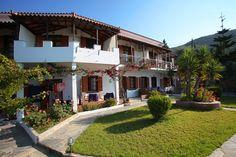 Skopelos apartments Skopelos Holidays Skopelos Stafilos rentals Irida Apartments Famous Beaches, Greek Islands, Pergola, Outdoor Structures, Explore, Mansions, House Styles, Holiday