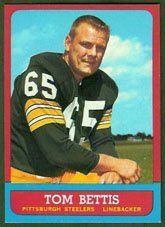 1963 Topps Regular (Football) Card# 132 Tom Bettis of the Pittsburgh Steelers Fair Condition by Topps. $1.20. 1963 Topps Regular (Football) Card# 132 Tom Bettis of the Pittsburgh Steelers Fair Condition