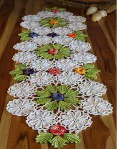 Caminho de mesa de crochê - Receita e gráfico - Toda Moderna