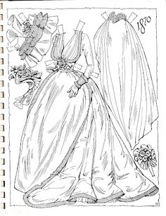 A very large and lovely black and white paper doll set from Charles Ventura fe...