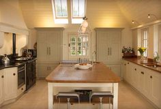 Light wood and white hand painted kitchens Sheffield