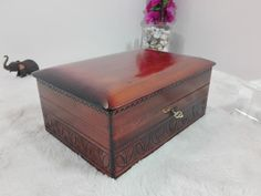 Wooden jewelry box brown jewelry box wooden jewellery box   Etsy Wooden Jewelry Boxes, Decorative Storage, Casket, Wood Boxes, Urn, Jewellery Box, Jewelry Watches, Natural Wood, Hand Carved