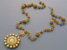 Beautiful Vintage Philippines Gold Gilt Filigree by PritiStar, $137.00