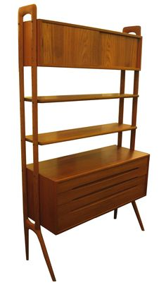 Danish Modern Teak Wall Unit