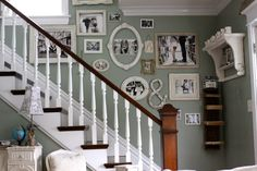 stairway photo wall