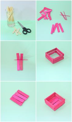 The Craftables — DIY Mini Crates made out of Popsicles How cute are...