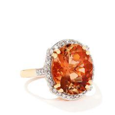 Lehrite & Diamond 18k Gold Lorique Ring MTGW 6.15cts