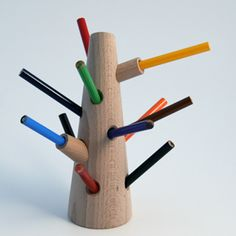 Tree Pencil Holder by Romp Pencil Holder, Pen Holders, Pencil Trees, Art For Kids, Crafts, Apartment Therapy, Desk, Xmas, Manualidades