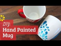 Create a personalised gift by decorating a plain mug with Porcelain Pens. This is a fantastic project for children and adults to make and is a brilliant gift. Sharpie Paint, Sharpie Crafts, Diy Sharpie Mug, Painted Coffee Mugs, Hand Painted Mugs, Memphis Design, Porcelain Pens, Easy Valentine Crafts, Pretty Mugs
