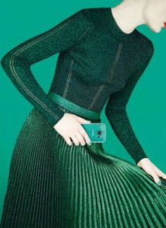 "green without envy. | ""A Fresh Look at Fashion"" Naty Chabanenko for Harper's Bazaar UK August 2015"