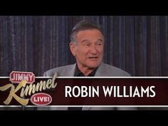 Robin Williams on Jimmy Kimmel ¤thank you for the decades of laughter. r.i.p.¤