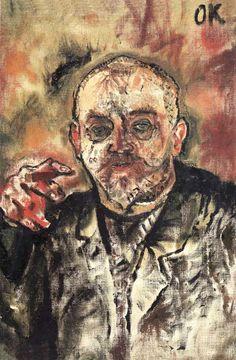 """Oskar Kokoschka, """"Paul Scheerbart"""" (1910)"""