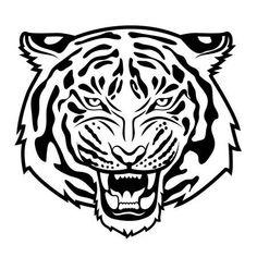 Bildergebnis für lion drawing black and white Tiger Head Tattoo, Head Tattoos, Tatoos, Celtic Tattoo Symbols, Celtic Tattoos, Tiger Vector, Vector Art, Pocket Watch Tattoos, Tattoo Outline