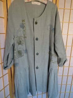 very pretty BLF linen jacket from the coveted botanicals collection