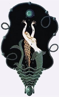 Sapphire, by Erté (Series: The Precious Stones)