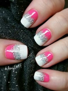 Most Popular Summer Nail Art 2015 - Fashion amp; Get Nails, Fancy Nails, Pink Nails, Glitter Nails, Pretty Nails, Black Nail Designs, Nail Art Designs, Fingernail Designs, Manicure E Pedicure