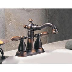 Shop Delta Victorian Venetian Bronze 2-Handle 4-in Centerset WaterSense Bathroom Faucet (Drain Included) at Lowes.com