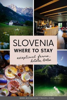 A guide to our favorite villages and accommodations in Slovenia: Zgornje Jezersko, Stara Fužina, Lake Bohinj, Ukanc, Logar Valley, Luče, Kranjska Gora, Pokljuka Plateau, Tržič, Kobarid in Soča Valley.   #slovenia #sloveniahotels #sloveniatouristfarms #sloveniafarms #sloveniafarmstays #sloveniaaccommodation #wheretostay #bestplacestostay #travelslovenia #visitslovenia #sloveniatrip Europe Travel Guide, Travel Guides, Travel Tips, Places In Europe, Best Places To Travel, Beautiful Places To Visit, Cool Places To Visit, Amazing Destinations, Travel Destinations
