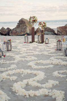 San Diego Garden Inspired Beach Wedding | Joshua Aull Photography