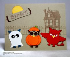 Owl Halloween handmade card Stampin' Up by DeannsCreativeCorner