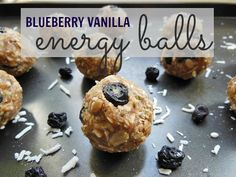Blueberry vanilla energy balls -- A great quick snack option full of protein and healthy fats. Also vegan, gluten free, and peanut free.