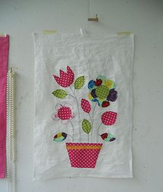 tea towel applique ideas