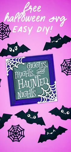 This free Halloween SVG decor is fun to make and a fun addition to your home! With the free files and few items you can easily make this for your own! #freesvg #cricutcreated #cricutmade #halloweendecor Easy Crafts, Easy Diy, Sewing Crafts, Sewing Projects, Halloween Tutorial, Silhouette Machine, Project Yourself, Homemade Gifts, Halloween Decorations