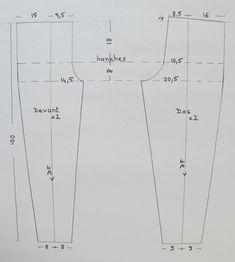 Bodice Pattern, Pants Pattern, Diy Clothes, Clothes For Women, Sewing Pants, Men Trousers, Sewing Stitches, Pattern Drafting, Dress Sewing Patterns